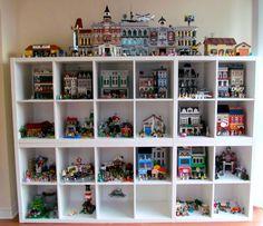 My Updated Setup - Lego Ideen - Lego Table With Storage, Lego Storage Brick, Lego Wall, Playroom Organization, Toy Rooms, Lego Projects, Lego Sets, Lego Shelves, Lego Display Shelf