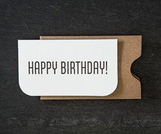 mini: happy birthday. letterpress card. #726