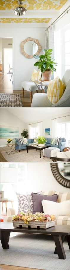 Beachy, Coastal Home Tour (Living Room, Entry, Family Room}