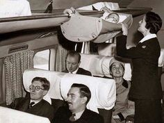 Airplane travel with a baby in the 1950s