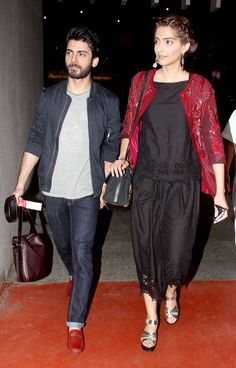 The 'Khoobsurat' jodi Sonam Kapoor and Fawad Khan snapped at the Mumbai airport. #Bollywood #Fashion #Style #Beauty