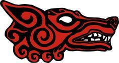 Norse Viking Symbols | Viking Wolf Symbol Full sized wolf head