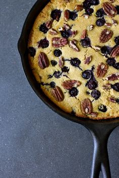 Blueberry Pecan Cornbread - prob won't make the cornbread from scratch, but definitely like the idea!