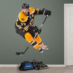 Patrice Bergeron REAL.BIG. Fathead Wall Graphic | Boston Bruins Wall Decal | Sports Home Decor | Hockey Bedroom/Man Cave/Nursery