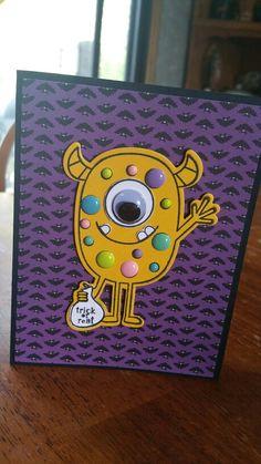 Halloween Monster card.