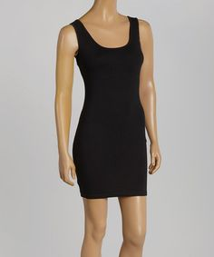 Another great find on #zulily! Black Banded Back-Cutout Zara Dress by 3R Street Wear #zulilyfinds