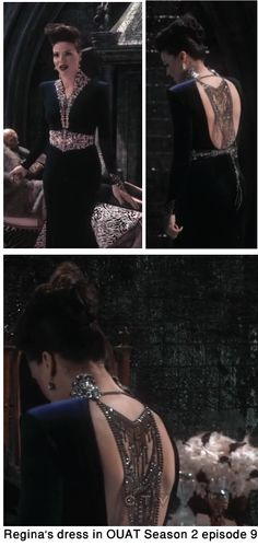 the dress worn by regina in once upon a time episode 9 season 2 is gorgeous!