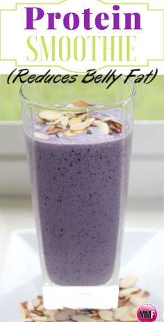 A Protein Smoothie recipe That Helps Reduce Belly Fat , and its so delicious and. - A Protein Smoothie recipe That Helps Reduce Belly Fat , and its so delicious and smooth and the cru - Protein Smoothie Recipes, Juice Smoothie, Smoothie Drinks, Healthy Smoothies, Healthy Drinks, Healthy Eating, Healthy Food, Green Smoothies, Coconut Water Smoothie