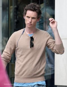 So serious with that furrowed brow that I love love love. (Eddie Redmayne)