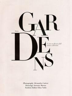GARDENS typography