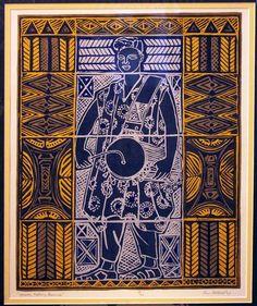 Yoruba-Talking-Drummer by Dorr Bothwell at Mendocino Art Center