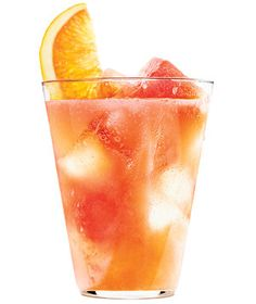 This refreshing grapefruit and orange spritzer is the perfect drink for an outdoor summer party.