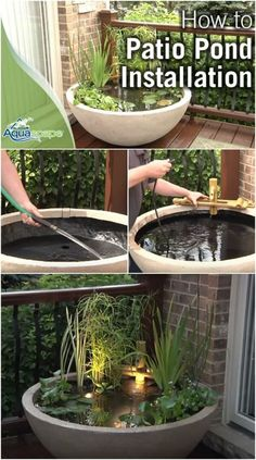 Patio Pond Ideas patio pond made from a flower pot (without drain holes) and fish