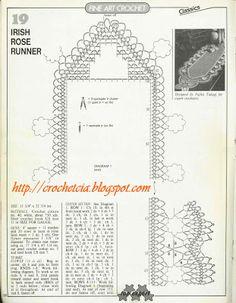 Vilma crochet e cia: Caminho de mesa em crochê com borboletas