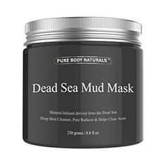 Shop for Pure Body Naturals The Best Dead Sea Mud Mask, Fl. - Dead Sea Mud Mask Best For Facial Treatment, Minimizes Pores, Reduces Wrinkles, And Improves Overall Complexion. Starting from Compare live & historic beauty prices. Organic Skin Care, Natural Skin Care, Natural Beauty, Natural Face, Natural Oils, Dead Sea Mud, Facial Treatment, Acne Treatments, Beauty