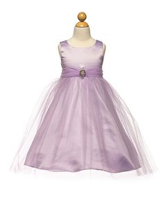 Love this Lilac Satin & Tulle Dress - Toddler & Girls on #zulily! #zulilyfinds