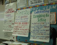 Read like a Historian!  Great way to bridge reading and social studies...with a little pizazz. (Check out the posters)