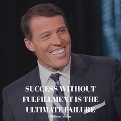 """Reposting @millions.vision: """"Success without fulfillment is the ultimate failure"""" - @tonyrobbins  It is essential you do what you love and don't do something for the materialistic worth. Would you still chase the same dream if it didn't pay?"""