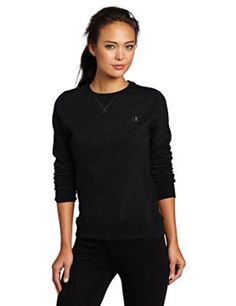 Champion Women's Eco Fleece Crewneck Sweatshirt, Black, Large  Champion $6.29