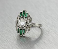 Antique Art Deco Platinum Filigree Diamond by shopccj Lesbian Wedding Rings, Saddle Ring, Aesthetic Painting, Diy Sharpie Mug, Art Deco Ring, Filigree, Vintage Jewelry, Engagement Rings, Antique Art