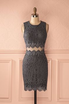 Vélanise ♥ New yesterday from Boutique 1861 Grey Outfit, Floral Lace Dress, Online Fashion Boutique, Two Piece Dress, Dance Dresses, Hats For Women, Pretty Dresses, Korean Fashion, Formal Dresses