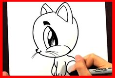 How to Draw a Cartoon Cat - How to Draw Easy Things Animals - Fun2draw D...