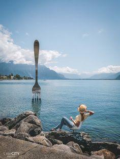 Vevey Fourchette am Genfersee Schweiz Ausflugstipps Vevey, Alps, Cuba, Travel Tips, Road Trip, Around The Worlds, London, Nice, Instagram