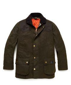 Jack Spade x Barbour Hopper Jacket. Bosses can always use another Barbour jacket. Barbour Clothing, Men's Fashion, High Fashion, Barbour Jacket, Jack Spade, Wax Jackets, Designer Clothes For Men, Designer Bags, Well Dressed Men