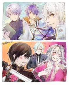 Touken Ranbu, Alchemist, Crossover, Fan Art, Illustration, Anime, Bonito, Audio Crossover, Illustrations