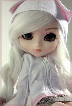 Little stubborn Kitty bjd Ooak Dolls, Blythe Dolls, Girl Dolls, Barbie Dolls, Pretty Dolls, Cute Dolls, Beautiful Dolls, Cartoon Girl Images, Girl Cartoon