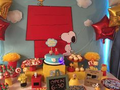 Snoopy and friends Birthday Party Ideas   Photo 1 of 16   Catch My Party