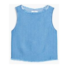 Soft fabric top ❤ liked on Polyvore featuring tops, sleeveless tops, blue sleeveless top, round top and blue top