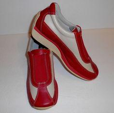 David Aaron Leather Red Reflex Shoes Women's US Size 7 EU 37 #DavidAaron #reflex