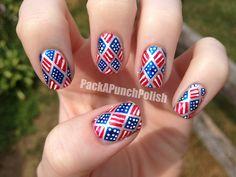 Más de 50 Uñas decoradas del 4 de Julio, día de la independencia de EEUU – 4th of july nailart | Decoración de Uñas - Manicura y Nail Art