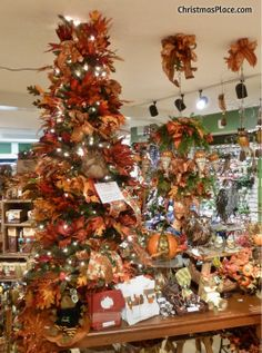 Here is a Thanksgiving tree - complete with turkeys! Thanksgiving Tree, Thanksgiving Decorations, Christmas Themes, Christmas Holidays, Halloween Trees, Halloween Decorations, Fall Harvest, Autumn, Holiday Tree