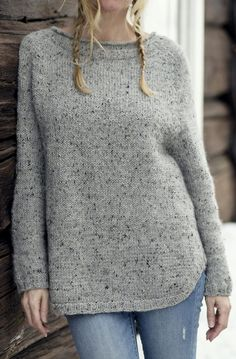 Free until April 1, 2018 Knitting Pattern for Yrsa Sweater - Long-sleeved pullover with comfortable fit, deeper raglan yoke and a rounded split hem. Designed by Katrine Hammer