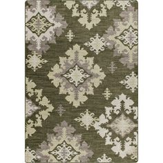 Milliken Mix and Mingle 92-in x 129-in Rectangular Cream/Beige/Almond Transitional Area Rug