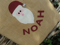 Personalised Christmas Sack Santa by QuirkeyJ on Etsy