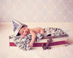 Create a nautical environment for baby's first photo shoot with this pint-size wooden boat ($125). While the initial investment is a bit of a splurge, the boat will serve as a great decor piece in your baby's nursery long after your photo shoot is over.