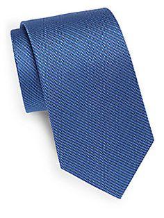 Yves Saint Laurent - Textured Silk Tie