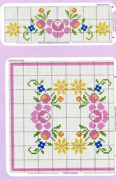This Pin was discovered by Esr Cross Stitch Bird, Cross Stitch Borders, Cross Stitch Flowers, Cross Stitch Charts, Cross Stitch Designs, Cross Stitching, Cross Stitch Embroidery, Hand Embroidery, Cross Stitch Patterns