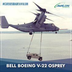 Um helicóptero ou um avião? ✈️ O Bell Boeing V-22 Osprey, é a primeira aeronave militar tiltrotor, cumprindo as funções de um helicóptero convencional, sendo capaz de realizar pousos e decolagens verticais, mas com a vantagem das turboélices de alta velocidade de um avião. #CuriosidadeAvalon #VoeAvalon #Aviação #Helicópteros