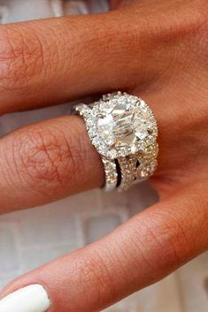 42 Cushion Cut Engagement Rings Which Give A Super Shine - Weddings - Anillos Wedding Rings Simple, Wedding Rings Solitaire, Beautiful Wedding Rings, Princess Cut Engagement Rings, Beautiful Engagement Rings, Wedding Rings Vintage, Engagement Ring Cuts, Bridal Rings, Wedding Jewelry