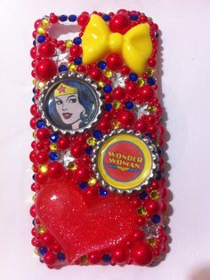 Red Wonder Woman iPhone 5 bling case by sparklingskye on Etsy, $35.00
