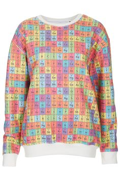 Periodic Table Sweat By Tee And Cake - Topshop