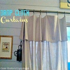Behold...The Drop Cloth Curtain! - Chase the Star