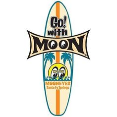 Mooneyes SURF BOARD Decal Sticker Beach Car Drag Strip Hot Rat Rod Woody Wagon