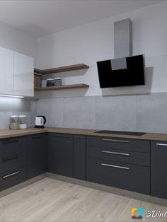 Kuchyňa antracit, drevo