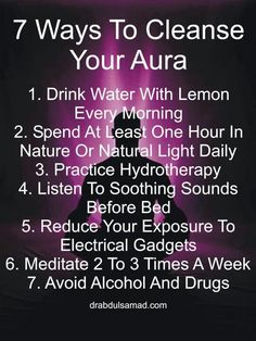 7 ways to cleanse your aura