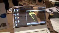 Transparent OLED Screen for Samsung Notebooks - CES 2010, via YouTube.